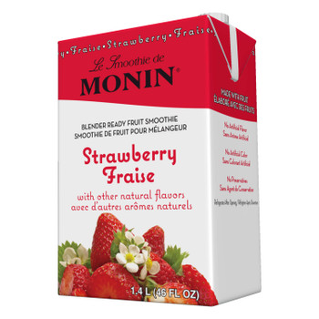 Monin, Strawberry Smoothie, 46 oz.  (6 Count)