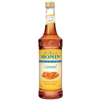 Monin, Sugar Free Caramel Syrup, 750 ml.  (12 Count)