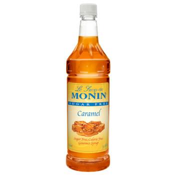 Monin, Sugar Free Caramel Syrup, 1 L. (4 Count)