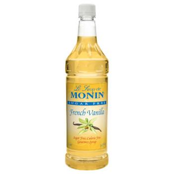 Monin, Sugar Free French Vanilla Syrup, 1 L. (4 Count)