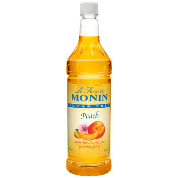 Monin, Sugar Free Peach Syrup, 1 L. (4 Count)