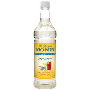 Monin, Sugar Free Sweetener Syrup, 1 L. (4 Count)