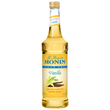 Monin, Sugar Free Vanilla Syrup, 750 ml.  (12 Count)