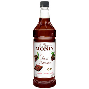 Monin, Swiss Chocolate Syrup, 1 L. (4 Count)