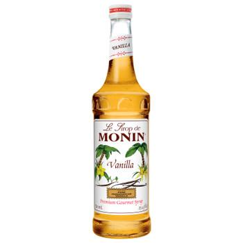 Monin, Vanilla Syrup, 750 ml.  (12 Count)