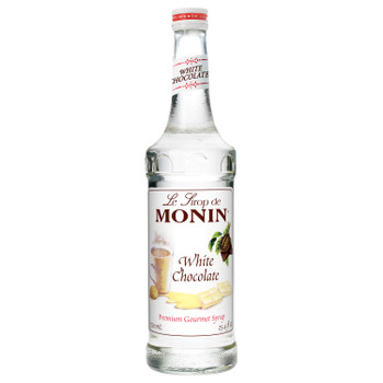 Monin, White Chocolate Syrup, 750 ml.  (12 Count)