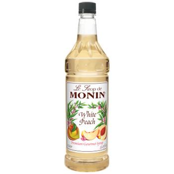 Monin, White Peach Syrup, 1 L. (4 Count)