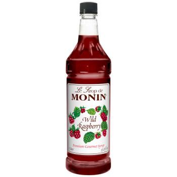 Monin, Wild Raspberry Syrup, 1 L. (4 Count)
