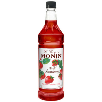 Monin, Wild Strawberry Syrup, 1 L. (4 Count)