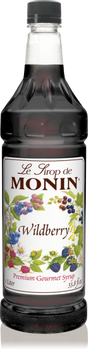Monin, Wildberry Syrup, 1 L. (4 Count)