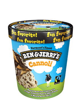 Ben & Jerry's, Cannoli Ice Cream, Pint (1 count)