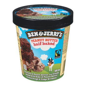 Ben & Jerry's, Peanut Butter Half Baked Ice Cream, Pint (1 count)