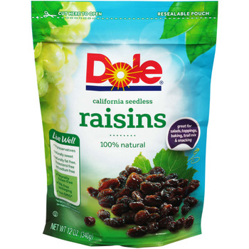 Dole, California Seedless Raisins, 12 oz. (12 count)