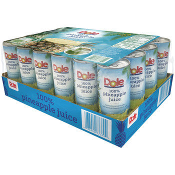 Dole, Club Pack Pineapple Juice, 8.4 oz. (24 count)