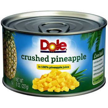 Dole, Crushed Pineapple in Pineapple Juice, 8 oz. (12 count)