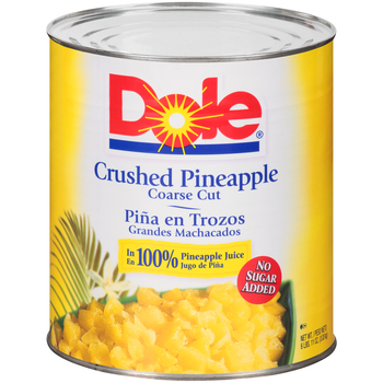 Dole, Fancy Crushed Pineapple in Pineapple Juice, # 10 can, 106 oz. (6 count)
