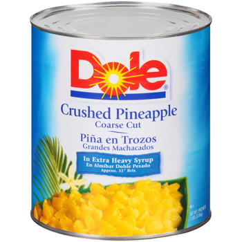 Dole, Crushed Pineapple in Extra Heavy Syrup, #10 can, 106 oz. (6 count)