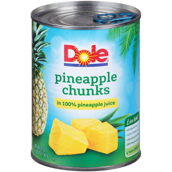 Dole, Pineapple Chunks in Pineapple juice, 20 oz. (12 count)