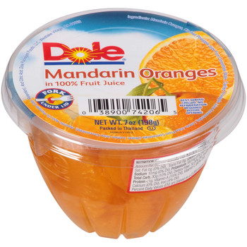 Dole, Sliced Mandarin Oranges in 100% juice, 7 oz. (12 count)