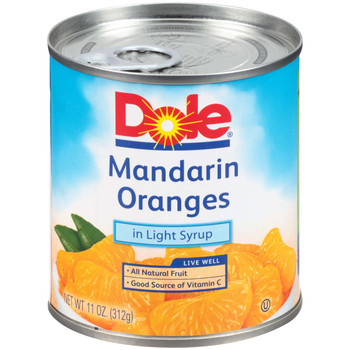 Dole, Mandarin Oranges in Light Syrup, 11 oz. (12 count)