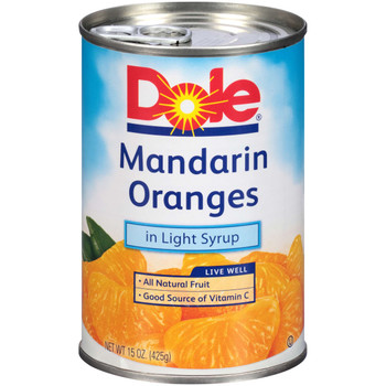 Dole, Mandarin Oranges in Light Syrup, 15 oz. (12 count)