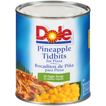 Dole, Pineapple Tidbits for Pizza in Light Syrup, 29 oz. (12 count)