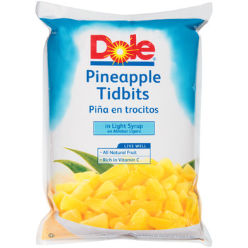 Dole, Pineapple Tidbits in Light Syrup, 81 oz. (6 count)