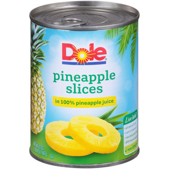 Dole, Kosher Pineapple Slices in 100% Juice, 20 oz. (12 count)