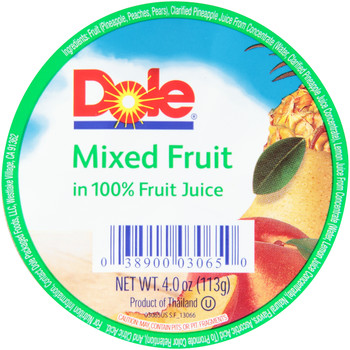Dole, Mixed Fruit in 100% juice, 4 oz. (36 count)