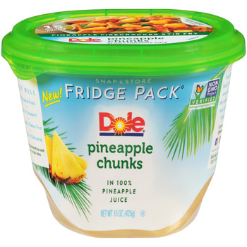 Dole, Pineapple Chunks in Pineapple Juice Fridge Pack, 15 oz. (8 count)