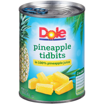 Dole, Pineapple Tidbits in 100% Pineapple Juice, 20 oz. (12 count)