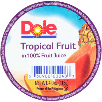 Dole, Tropical Fruit in 100% Juice, 4 oz. (36 count)