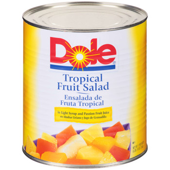 Dole, Tropical Fruit Salad in Light Syrup, #10 can, 106 oz. (6 count)