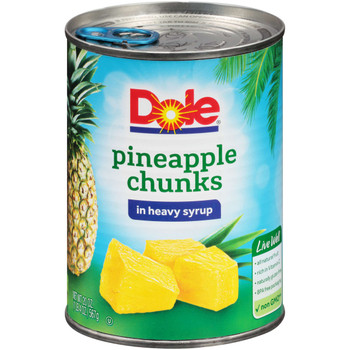Dole, Pineapple Chunks in Heavy Syrup, 20 oz. (12 count)