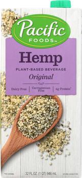 Pacific Foods, Original Hemp Milk, 32. oz (12 count)