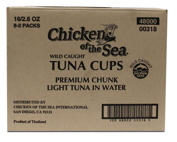 Chicken Of The Sea, Chunk Light Tuna in Water Bowl, 2.8 oz. (16 count)