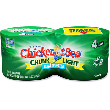Chicken Of The Sea, Chunk Light Tuna in Water, 5 oz. (24 count)