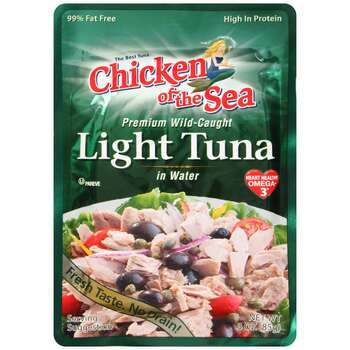 Chicken of the Sea, Premium LIght Tuna Pouch, 3 oz.  (24 count)