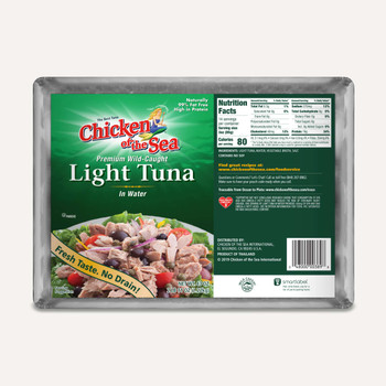 Chicken of the Sea, Premium Wild-Caught Light Tuna in Water, 43 oz. (6 count)