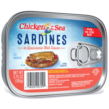 Chicken Of The Sea, Sardines In Hot Sauce, 3.75 oz. (18 count)