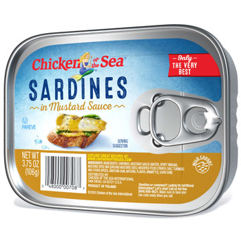 Chicken Of The Sea, Sardines In Mustard, 3.75 oz. (18 count)