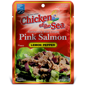 Chicken Of The Sea, Skinless/Boneless Pink Salmon In Lemon Pepper Pouch, 2.5 oz. (12 count)