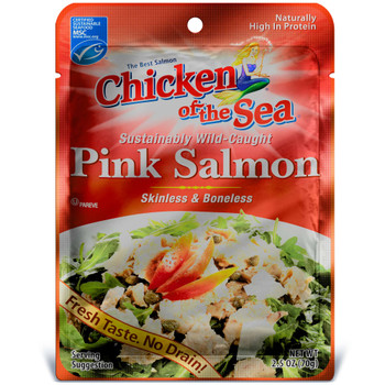 Chicken Of The Sea, Skinless/Boneless Pink Salmon Pouch, 2.5 oz. (12 count)
