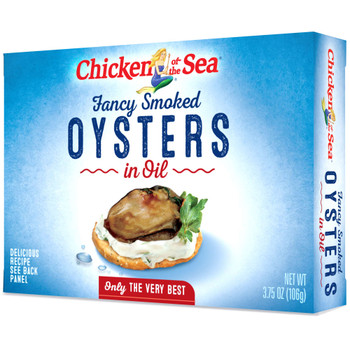 Chicken Of The Sea, Smoked Oysters In Oil, 3.75 oz  (18 count)