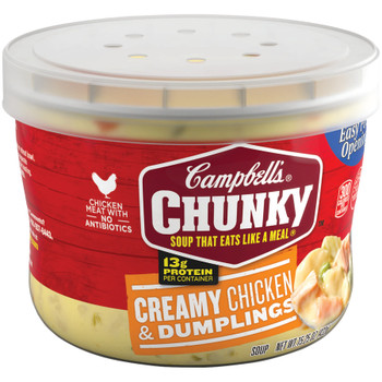 Campbell's, Chunky Creamy Chicken & Dumplings, 15.25 oz. Microwavable Bowl (1 Count)
