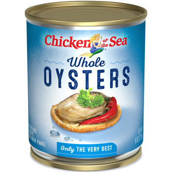 Chicken Of The Sea, Whole Oysters, 8 oz. (12 count)