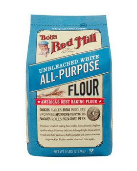 Bob's Red Mill, Unbleached White All-Purpose Flour,  5 lb. (4 count)
