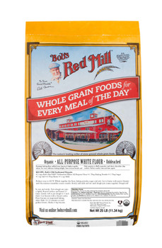 Bob's Red Mill, Organic Unbleached White All-Purpose Flour,  5 lb. (4 count)