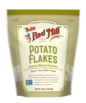 Bob's Red Mill, Instant Mashed Potatoes, Potato Flakes  16 oz. (4 count)