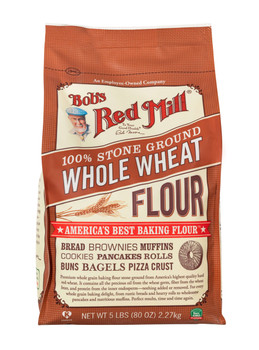 Bob's Red Mill, Whole Wheat Flour,  5 lb. (4 count)